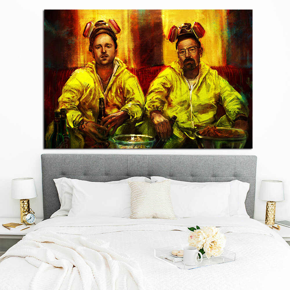 BREAKING BAD JESSE AND WALTER COOKING POSTER